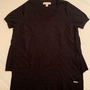 MICHAEL KORS Black Shortsleeved Sweater